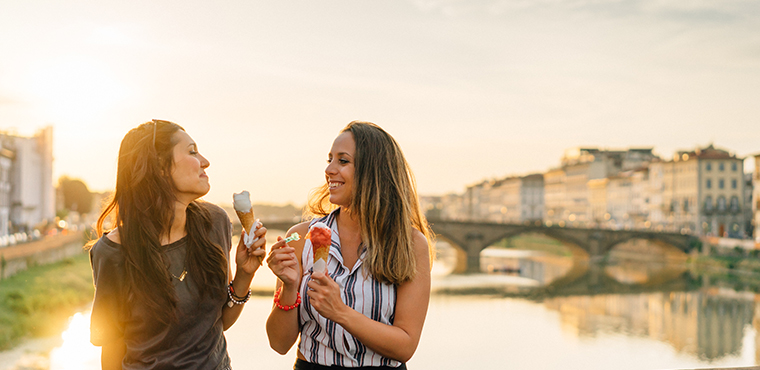 A delicious  ice cream  to end this fantastic tour of Florence