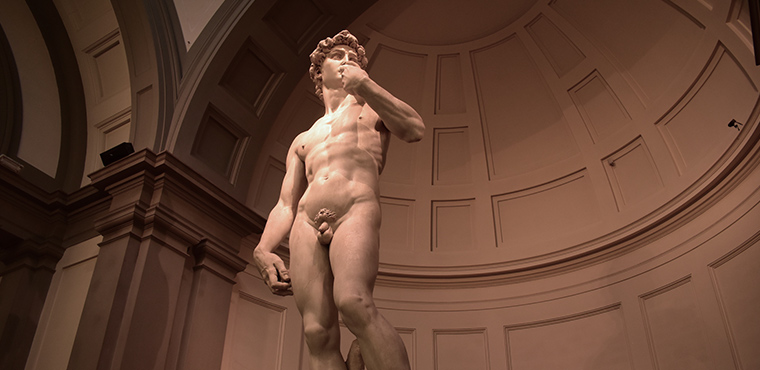 David by Michelangelo Buonarroti, Accademia gallery in Florence