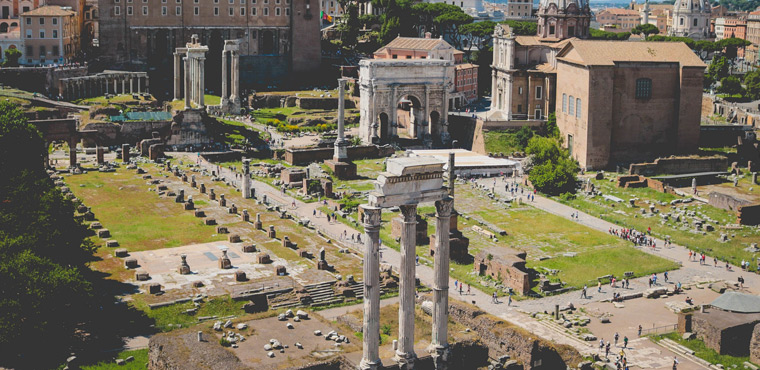 Archeological sites in Rome